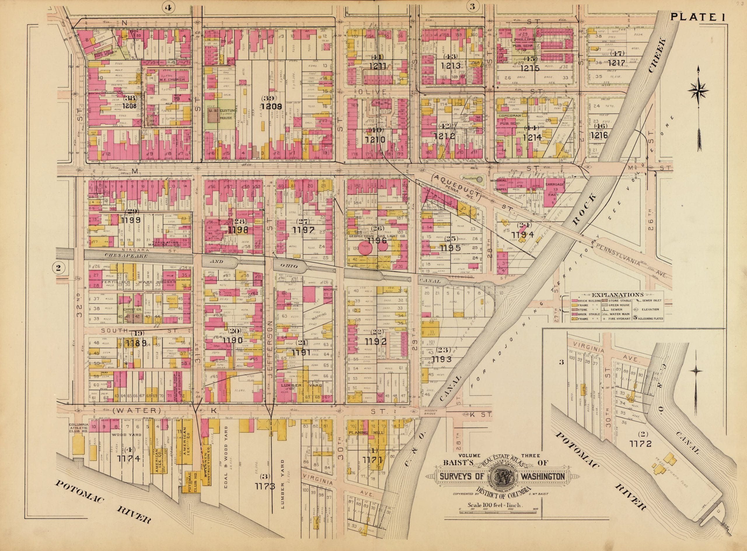 1903 map of Georgetown
