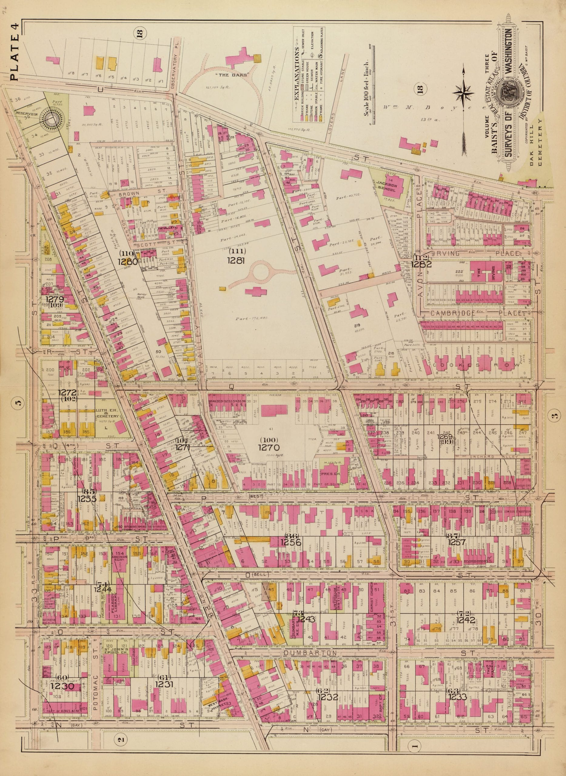 1903 map of Wisconsin Ave.