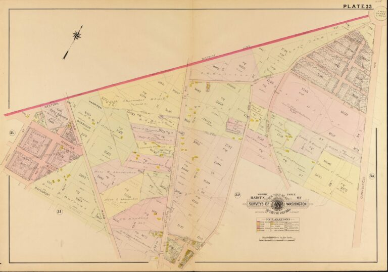 1907 map of Chevy Chase area