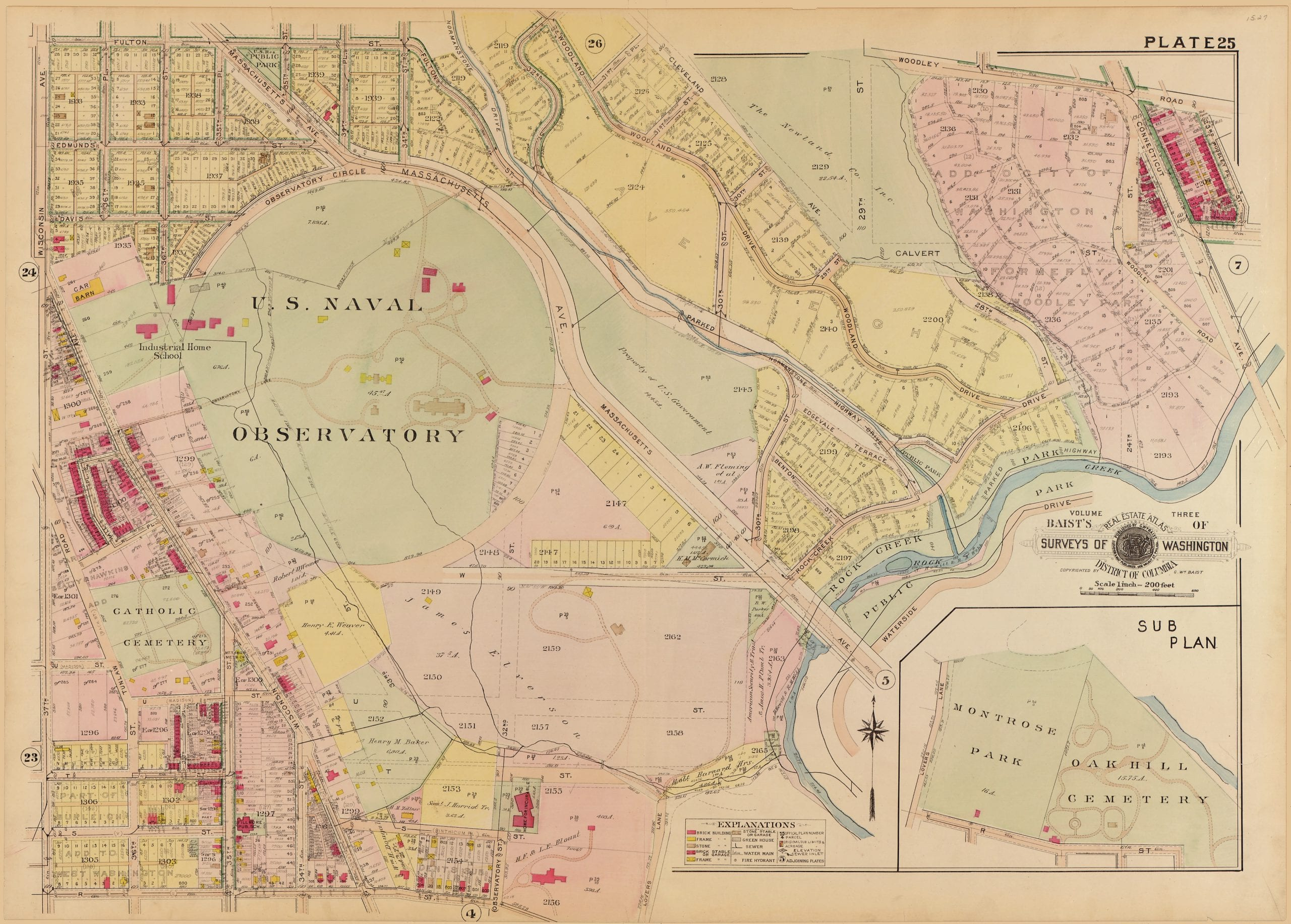 1913 map of Observatory Circle