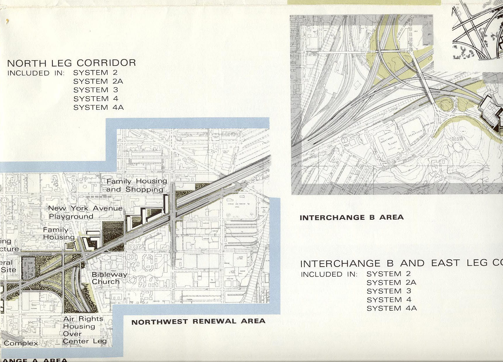 Notice the decked/tunneled section along New York Avenue.