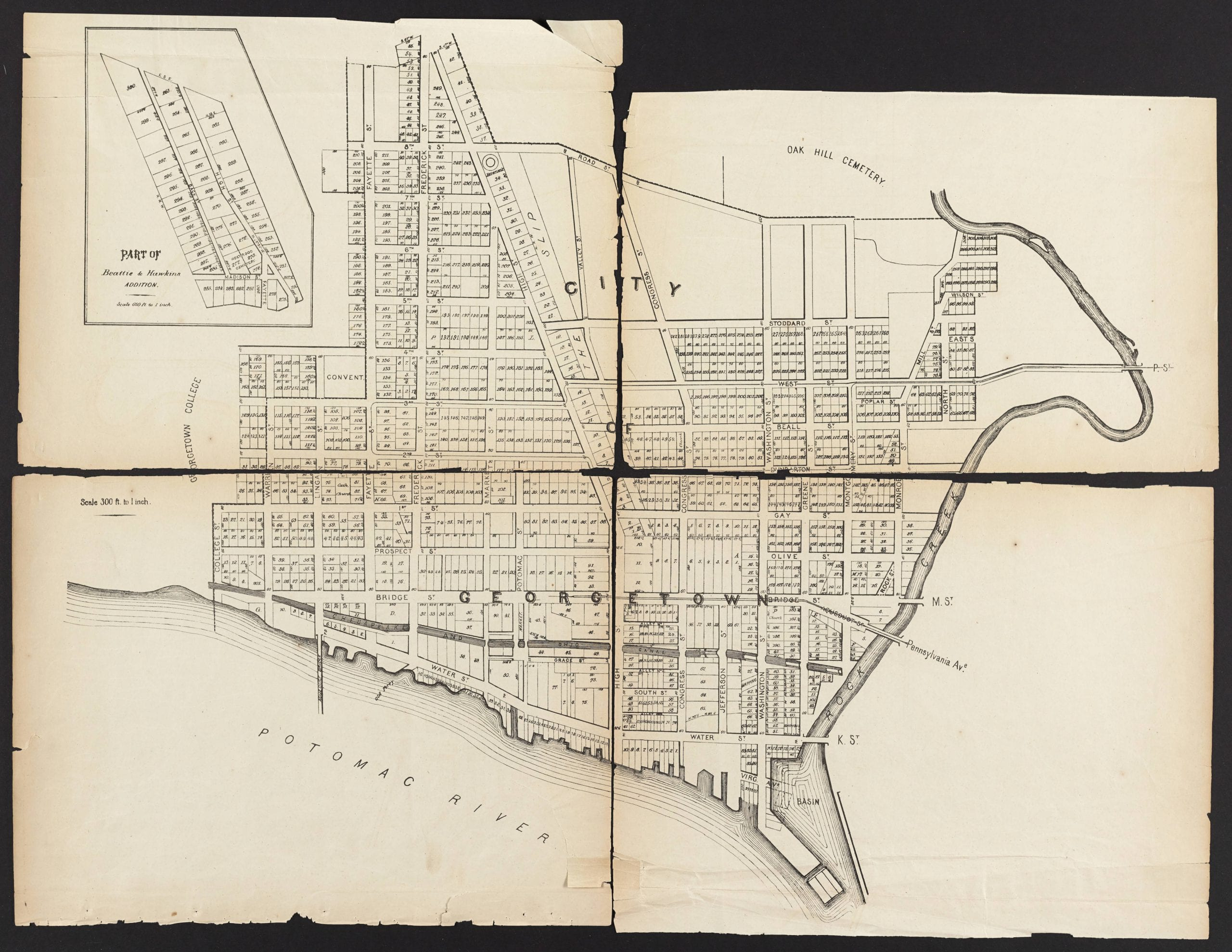 1874 map of Georgetown