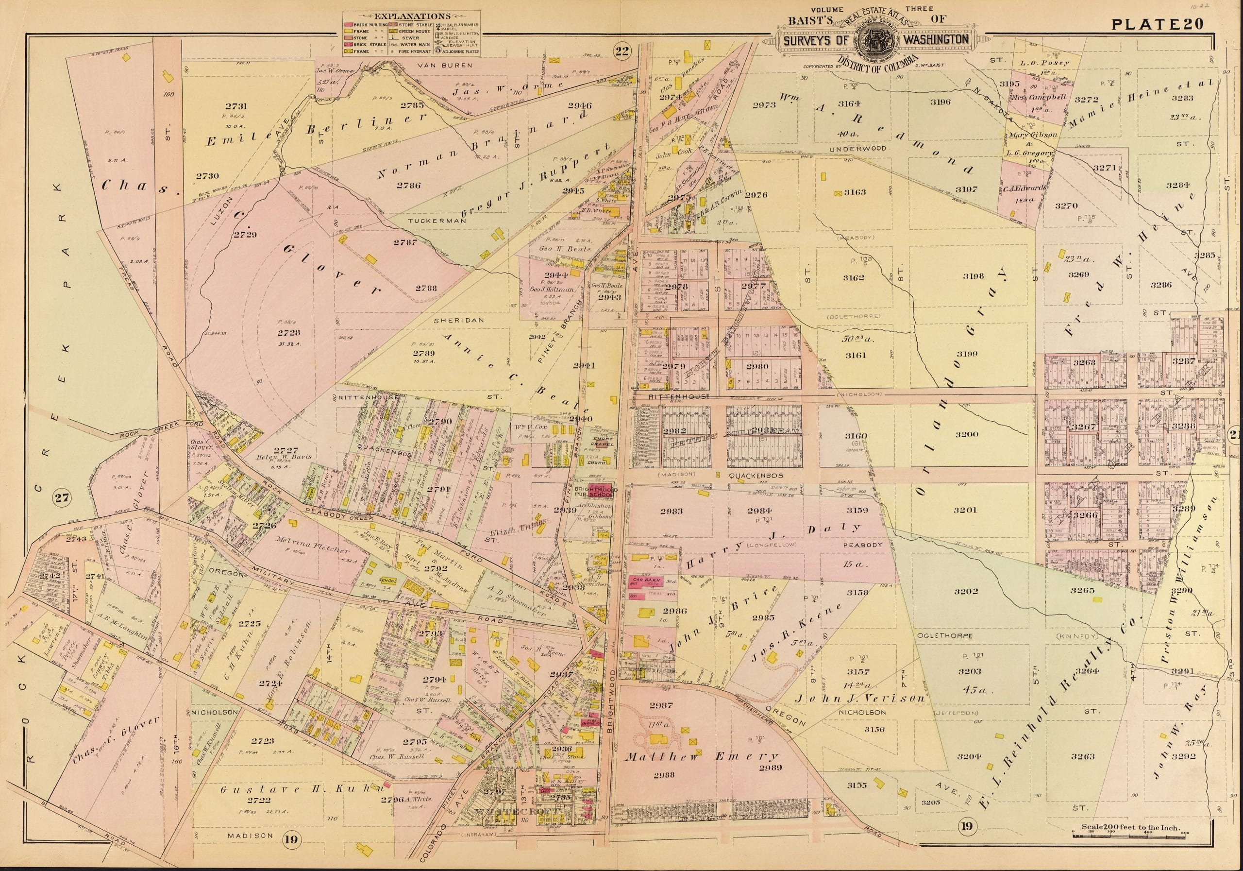 1907 map of Brightwood