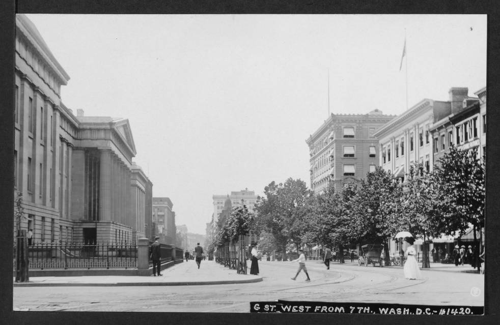 7th and G St. in the Summer of 1911