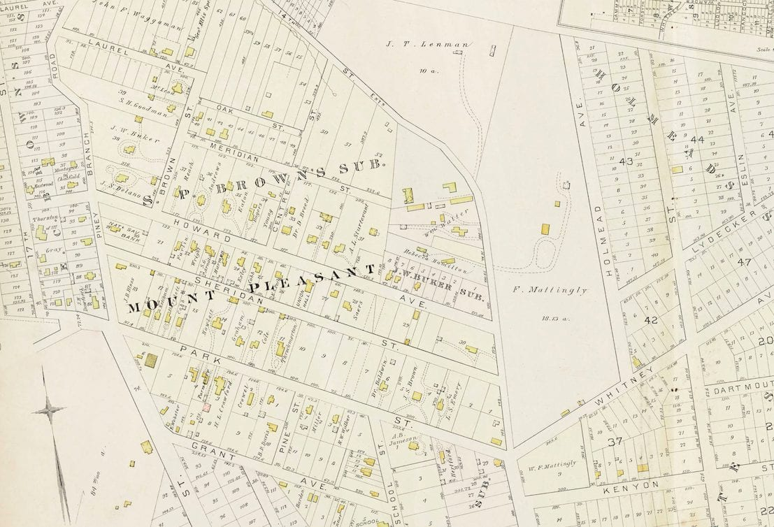 Awesome 1887 Map of Mt. Pleasant and Columbia Heights