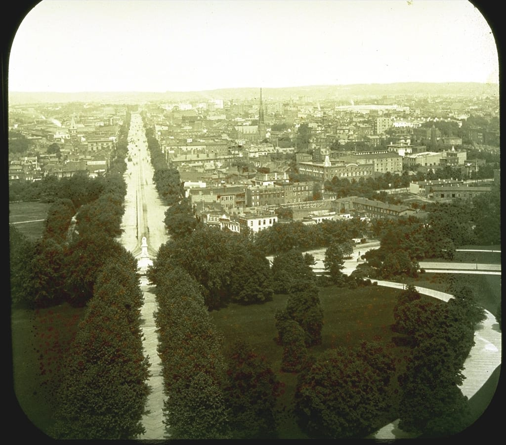 Beautiful Old Photo Looking Down Pennsylvania Avenue