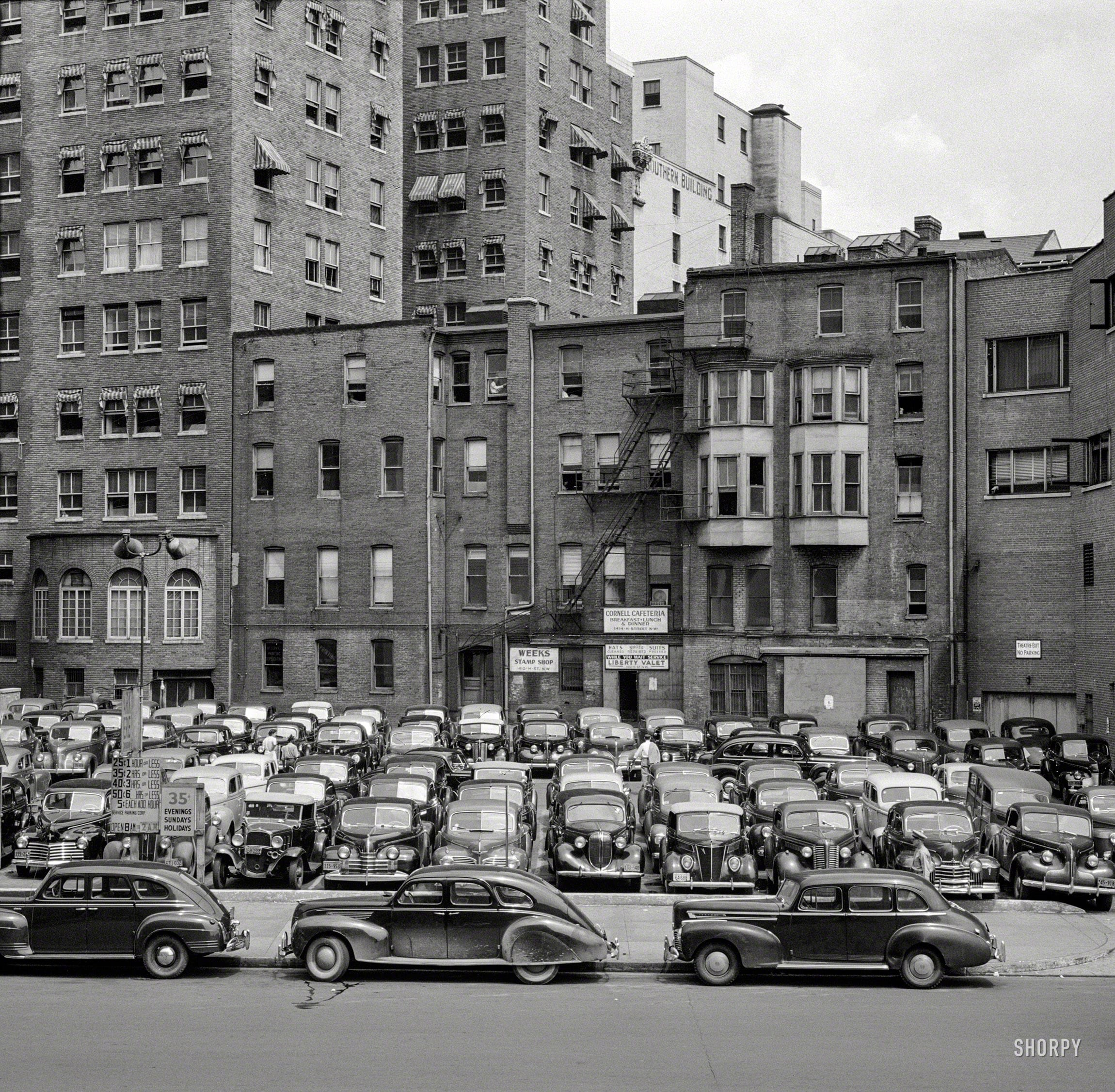 "1942. ""Effect of gasoline shortage in Washington, D.C."" Medium format nitrate negative by Albert Freeman for the Office of War Information."