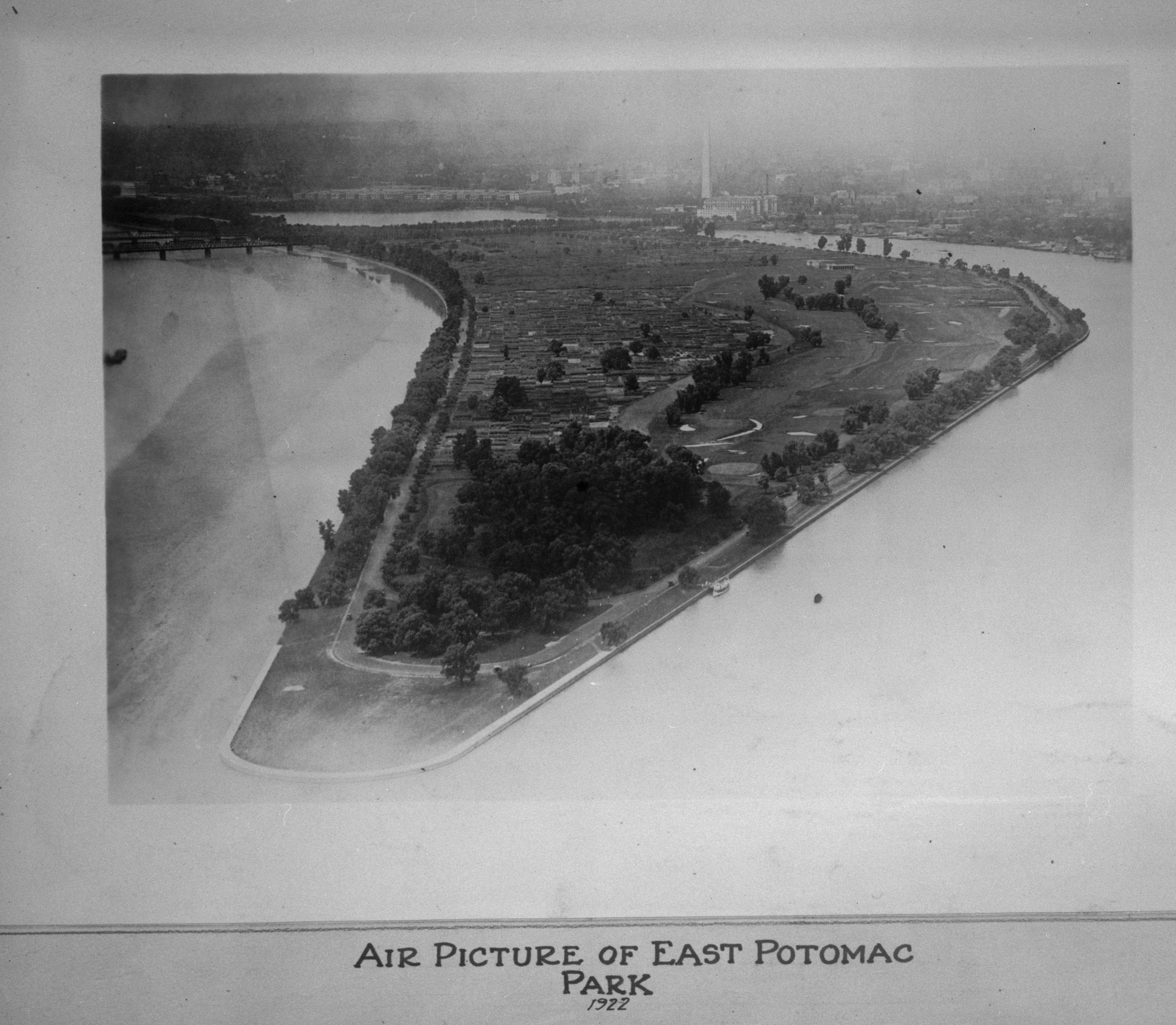 aerial view of East Potomac Park
