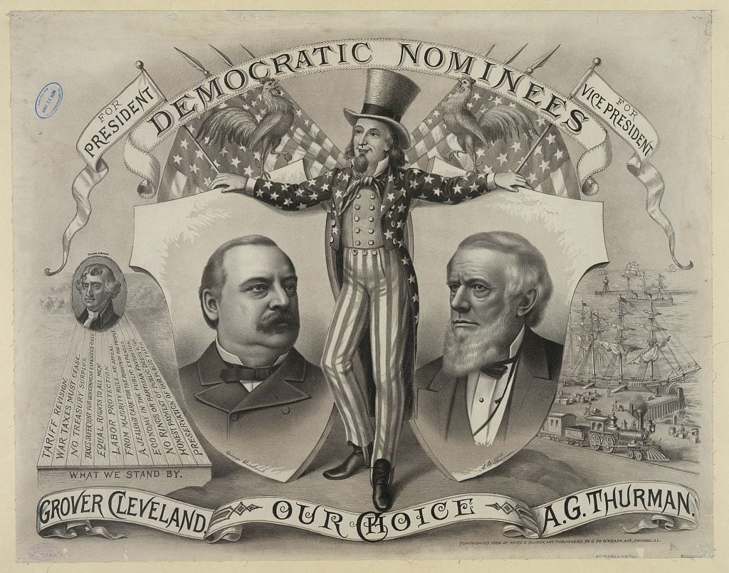 Our choice, Grover Cleveland, A.G. Thurman. Democratic nominees, for president [and] for vice president - June 18, 1888