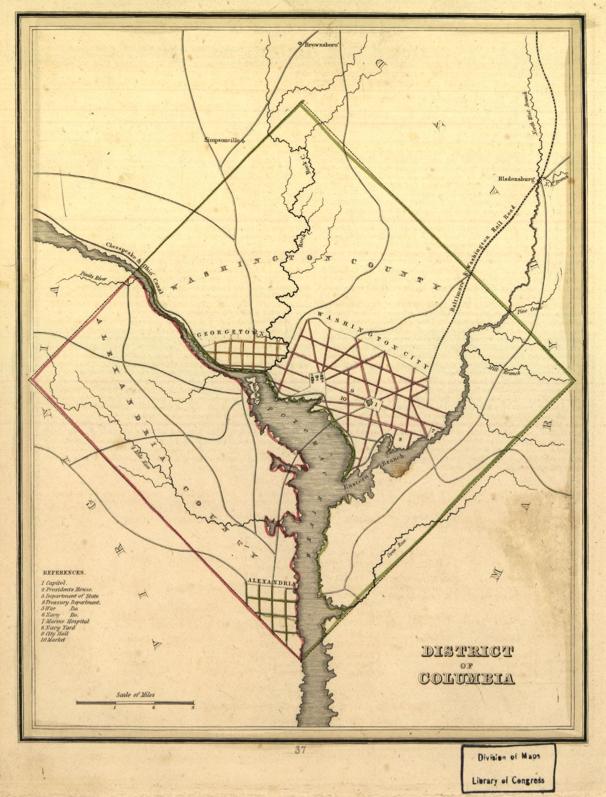 1835 map of Washington