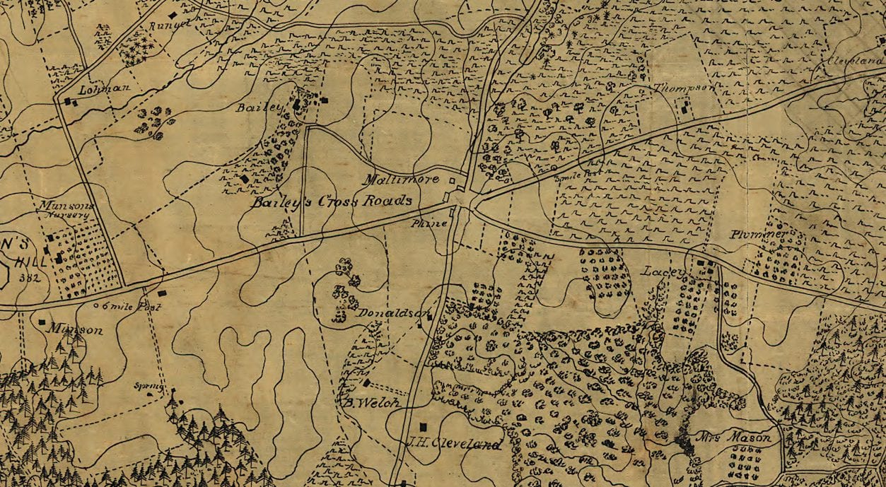 Detailed Civil War Map of Northern Virginia