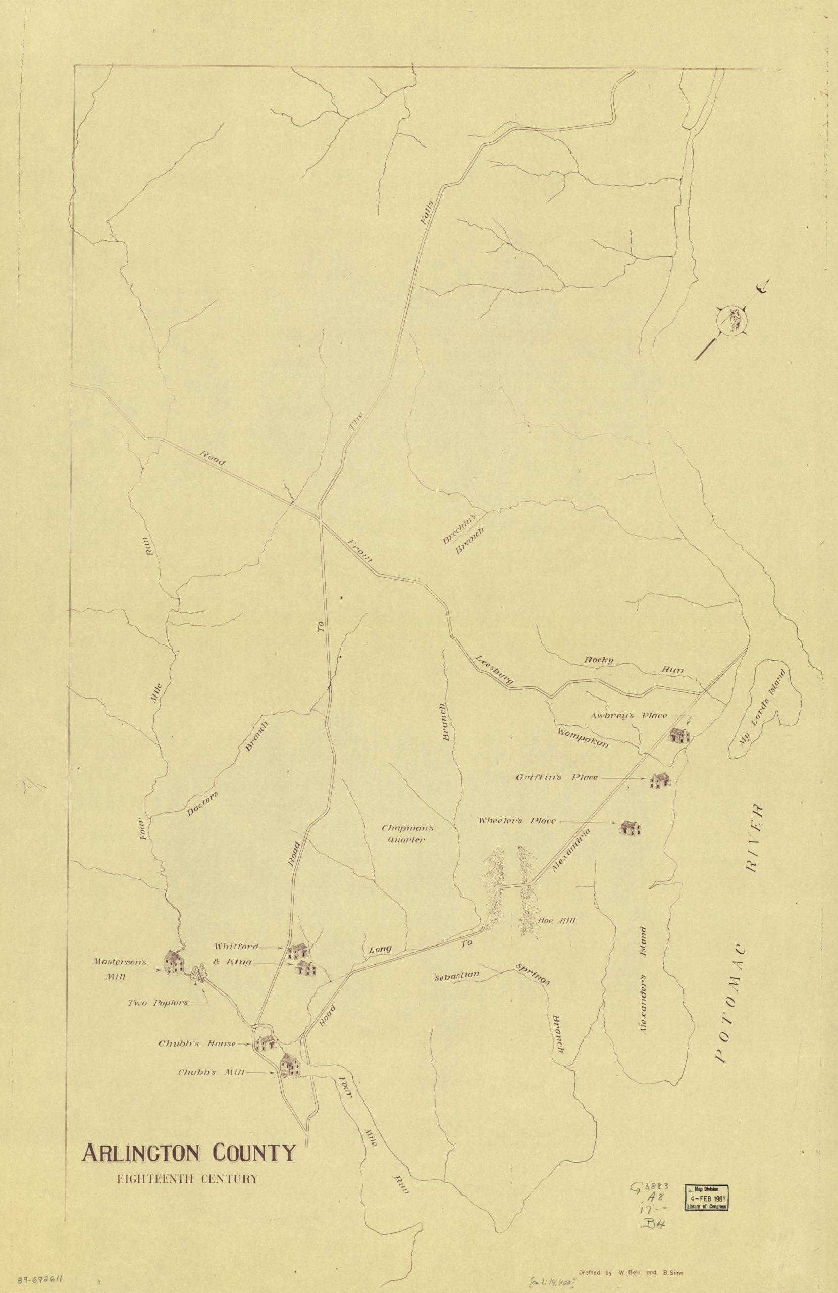 Arlington County in the 1700s