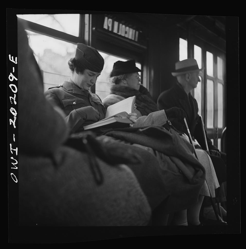 Riding the streetcar in 1943