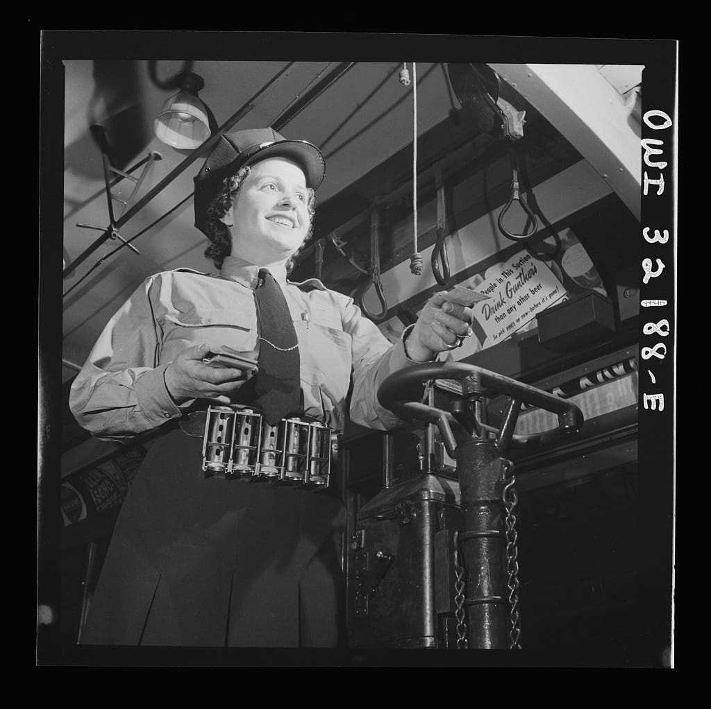 Washington, D.C. Hattie B. Sheehan, a streetcar conductor for the Capitol Transit Company
