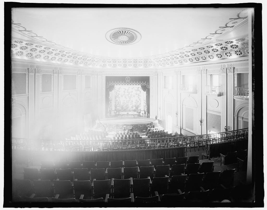 The grand theater interior in 1917