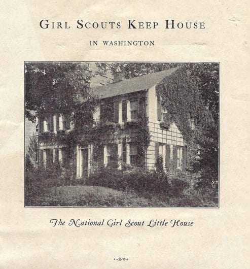 "Screenshot of the 1930s pamphlet ""Girl Scouts Keep House"""