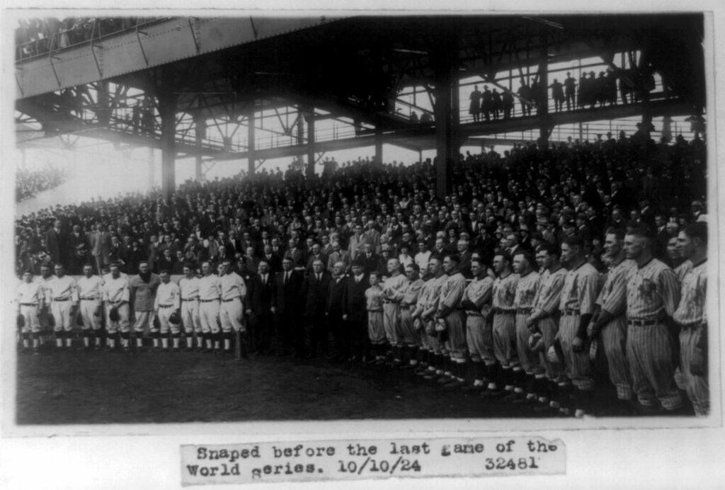 Snaped before the last game of the World Series Snapped before the last game of the World Series (October 10th, 1924)