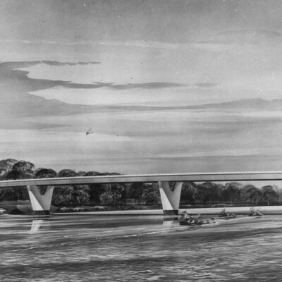 Unbuilt Three Sisters Bridge Across the Potomac