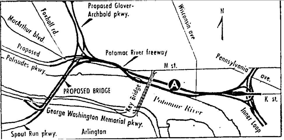 Proposed highway and bridge system for D.C.