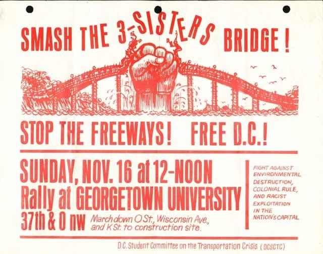 Stop the Freeways protest poster