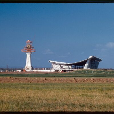 Dulles Airport tower being built