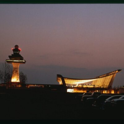 Dulles Airport at night