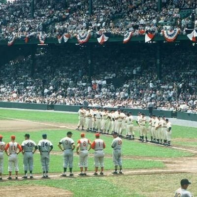 Griffith Stadium in Washington during the 1956 Major League Baseball All-Star Game