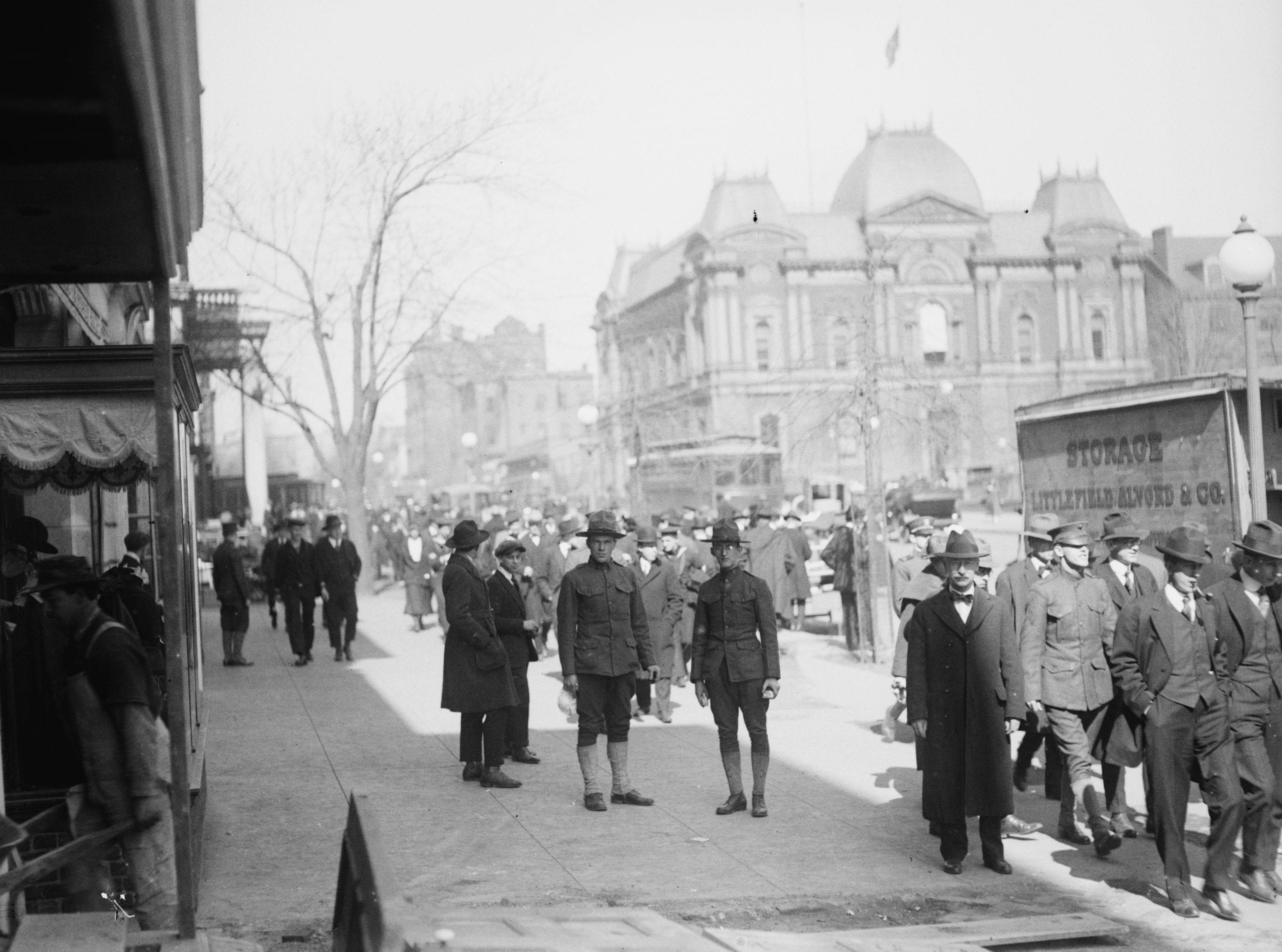 View of 17th St. and Renwick Gallery in 1918