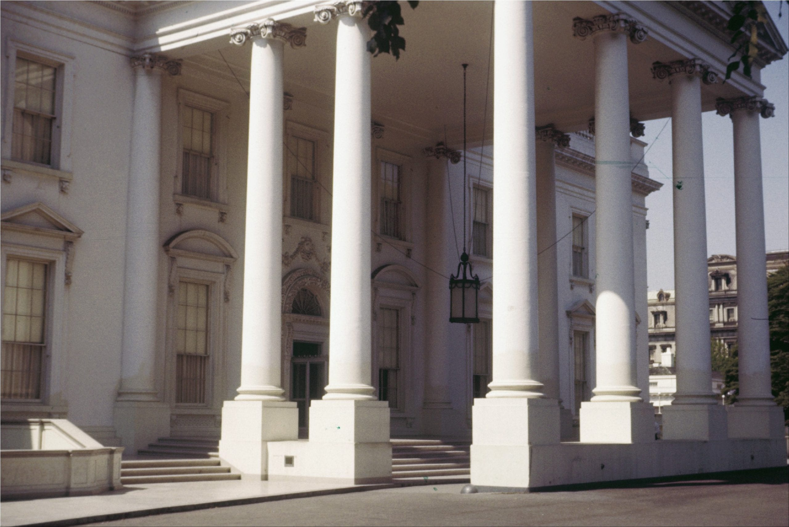 Front portico of the White House in 1956