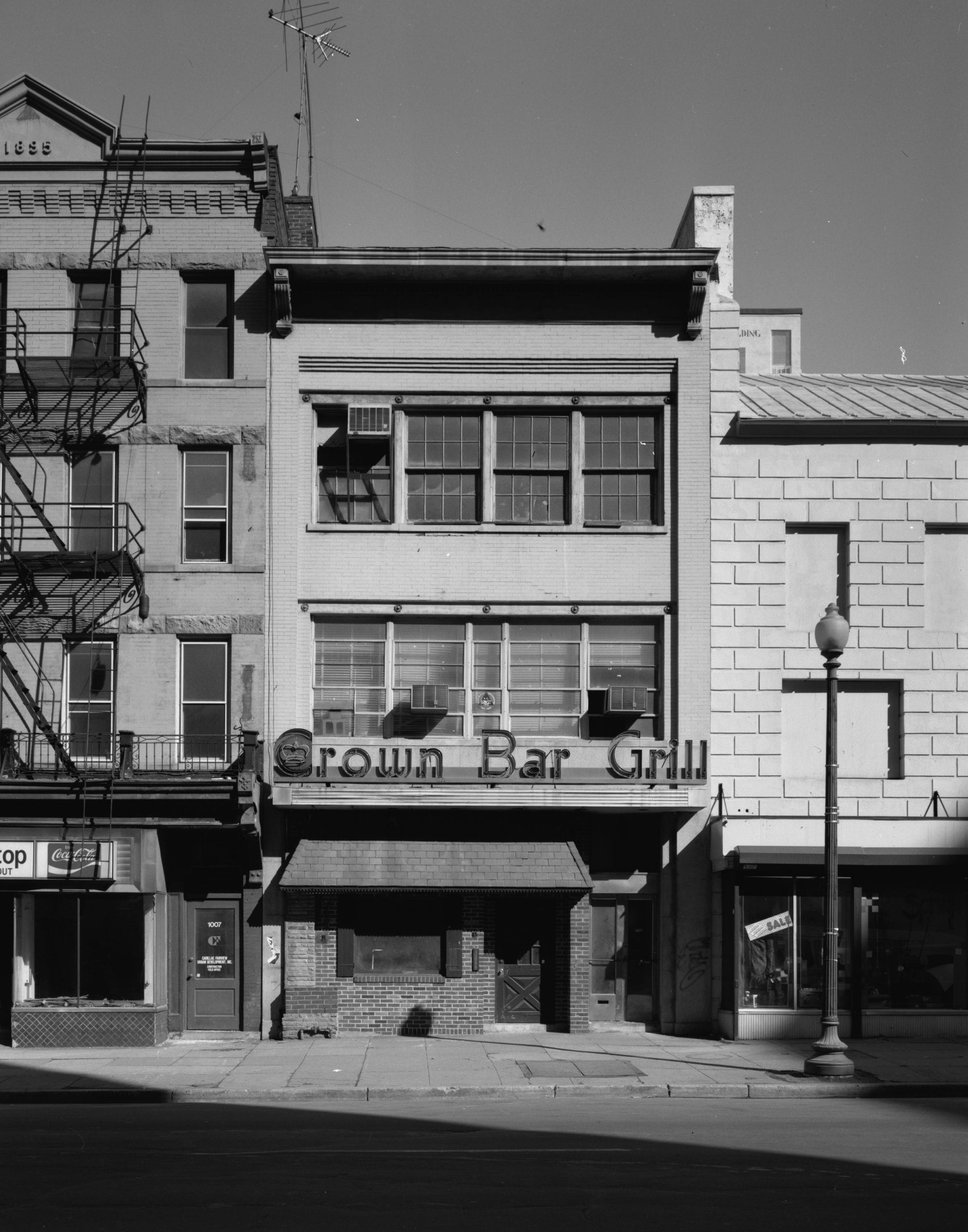 View north showing front facade - 1005 E Street, Northwest (Commercial), Square 347, Washington, District of Columbia, DC