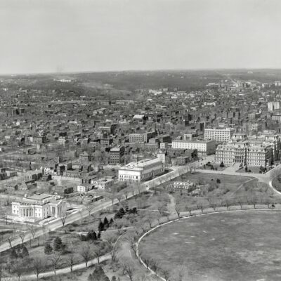 Incredible Aerial View of State, War and Navy Building From Washington Monument in 1911