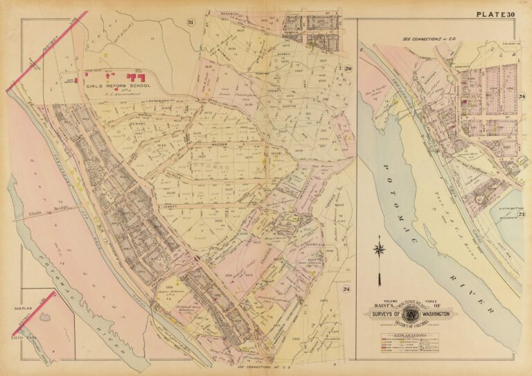 1909 map of the Palisades