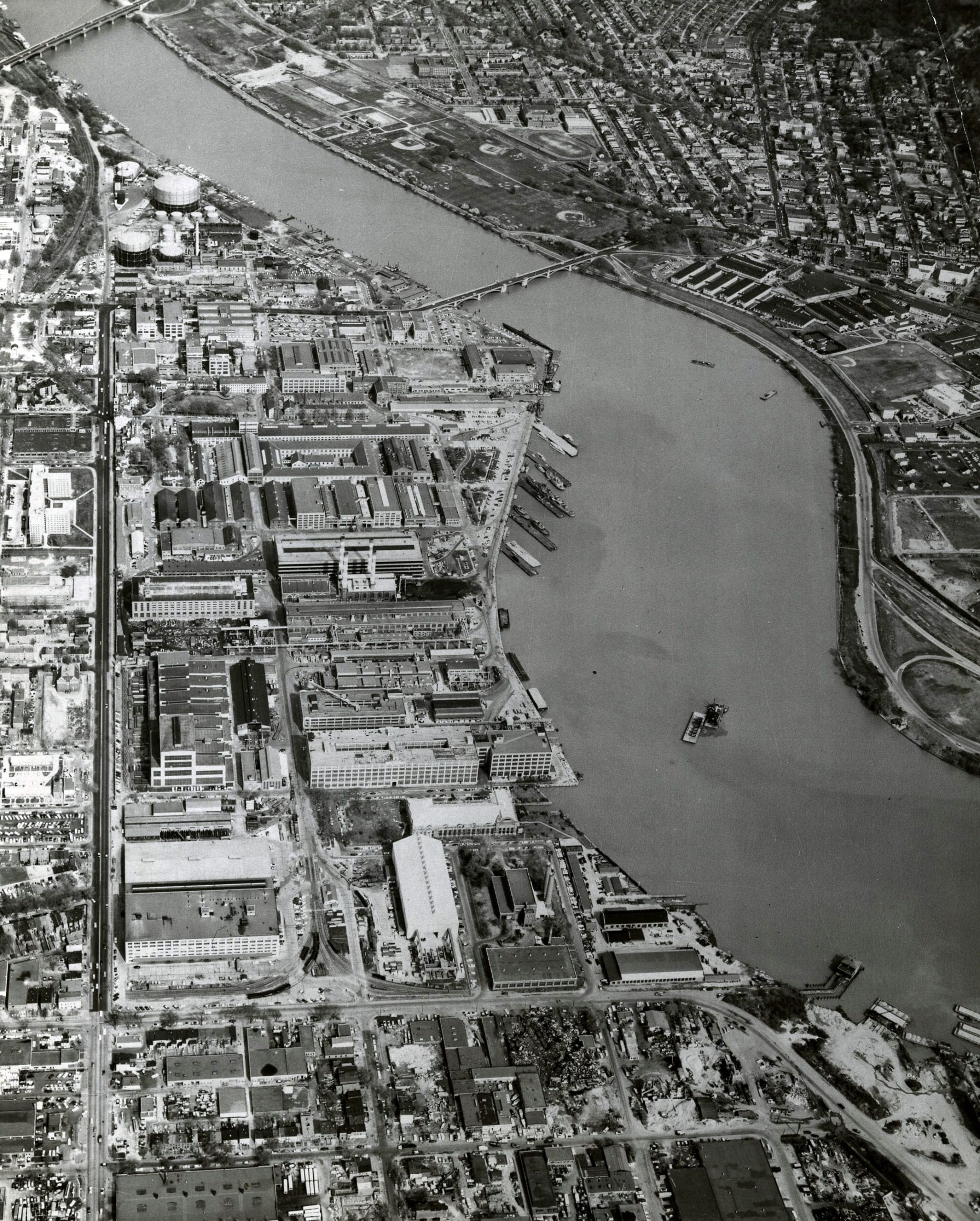 Aerial Views of the Navy Yard in the 1960s, 70s, and 80s