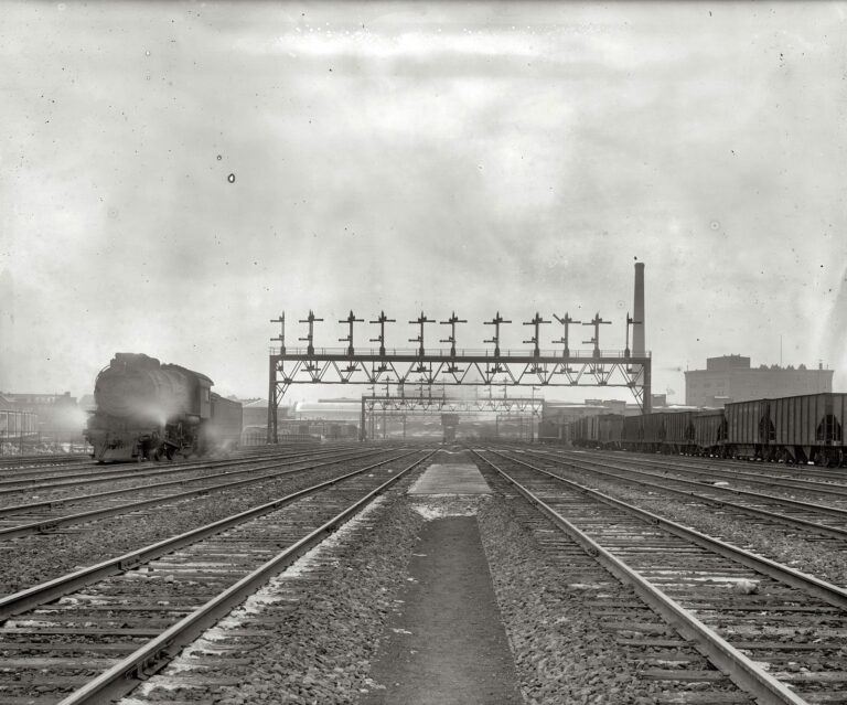 """Union Station tracks, Washington, circa 1920."" National Photo Company Collection glass negative."