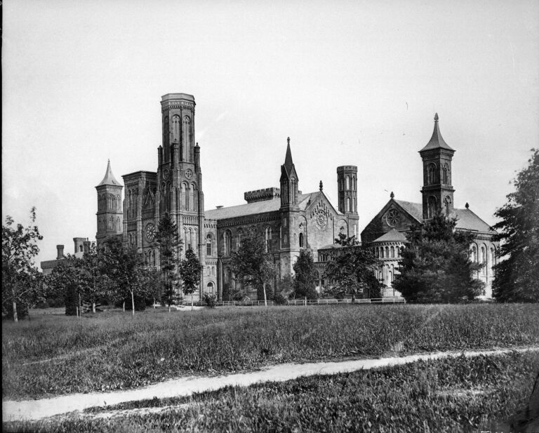 "Smithsonian Institution Building, ""The Castle,"" c. 1867."
