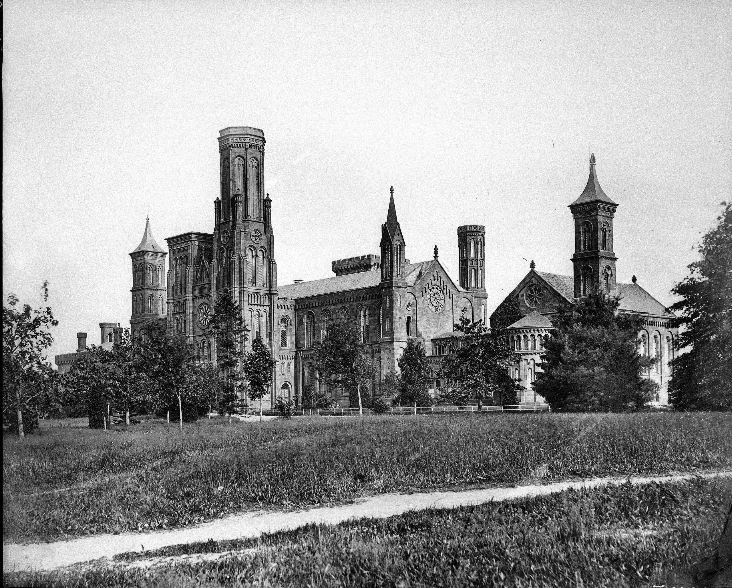 """Smithsonian Institution Building, """"The Castle,"""" c. 1867."""
