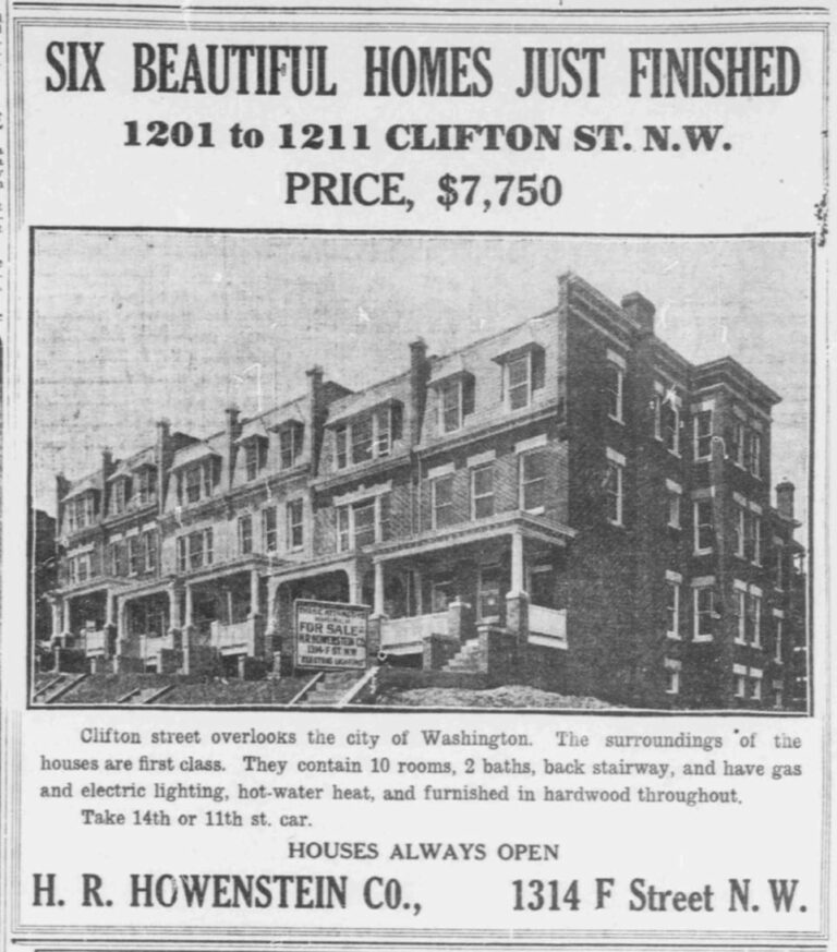 Advertisement for 1201 Clifton St. NW