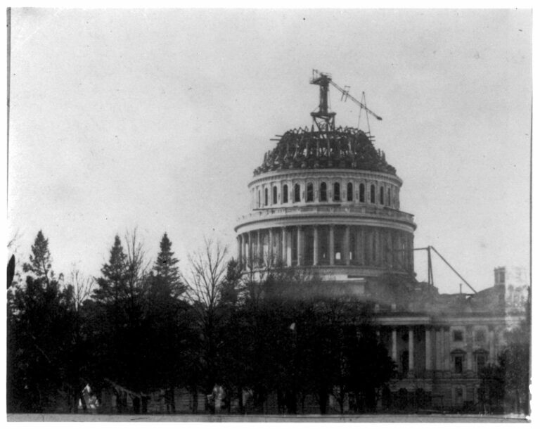 Capito Dome under construction in 1860s