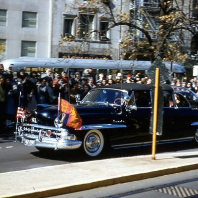 1950 Lincoln Cosmopolitan Presidential Limousine - Bubble Top Parade Car - Presidential Motorcade - President Eisenhower - Queen Elizabeth - United States Visit - Washington DC - October, 1957