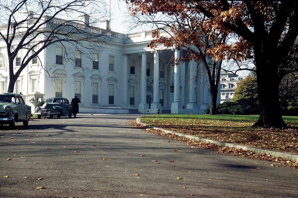 White House- Washington DC- circa 1950  Photographed by my grandfather with Leica 111c 35mm circa 1950
