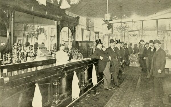 At the bar at Warwick's Cafe, 13th St., NW near Pennsylvania Ave., 1894