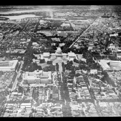 Aerial view of U.S. Capitol in 1922
