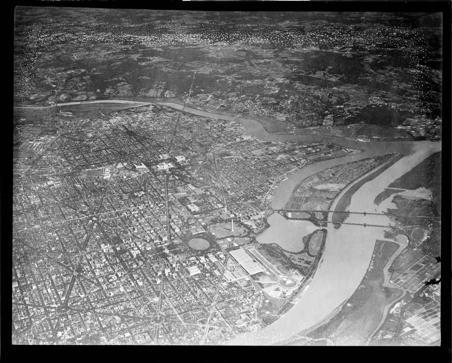Aerial view of D.C. in 1922