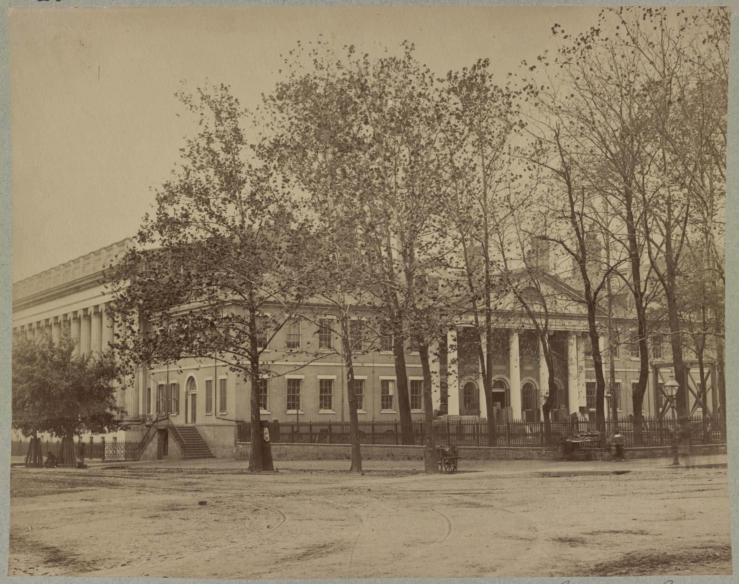 Old State Department Building, corner 15 Street and Pennsylvania Avenue - photo taken during the Civil War