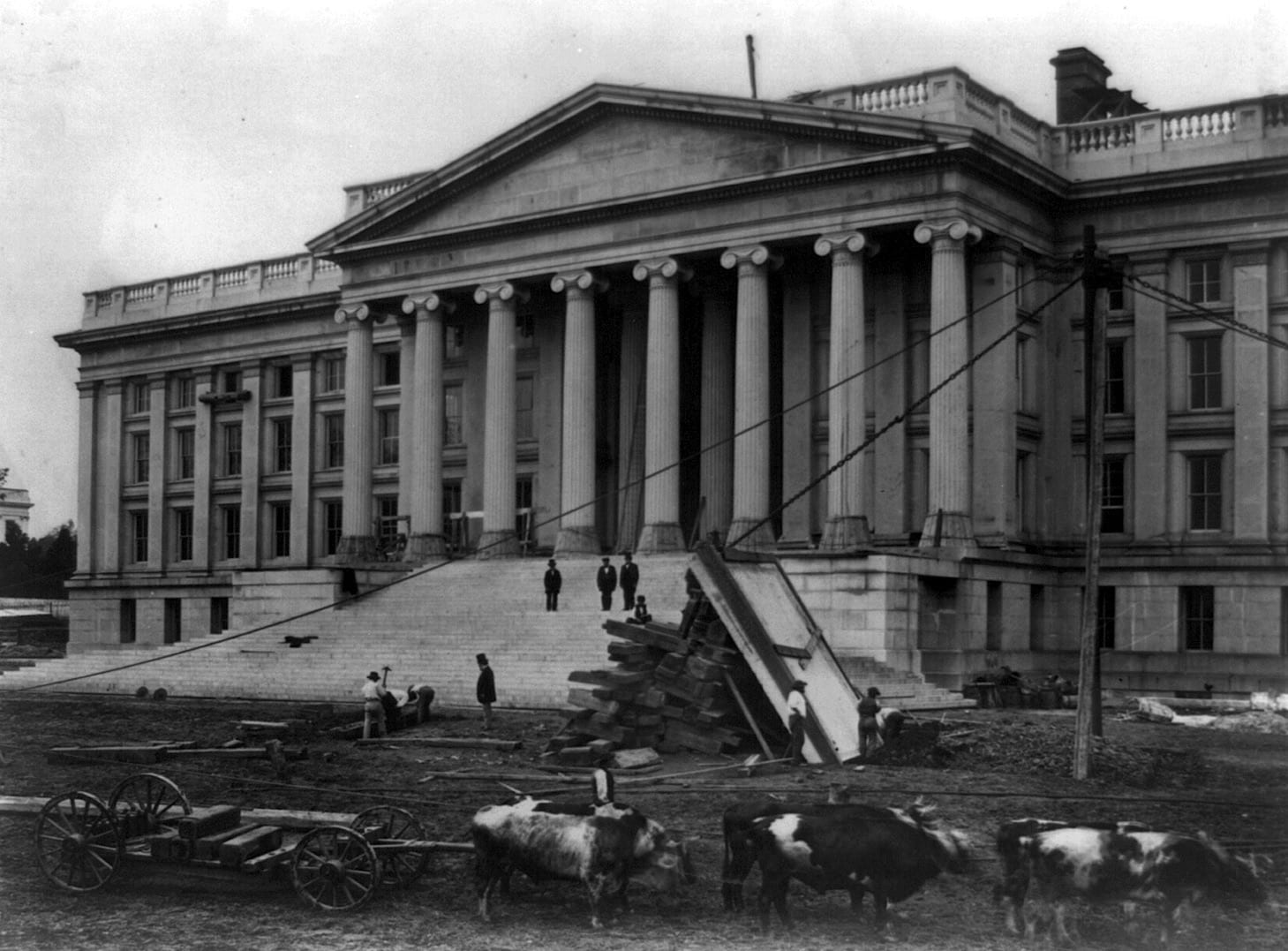 The Treasury Building in 1860, Before the Civil War