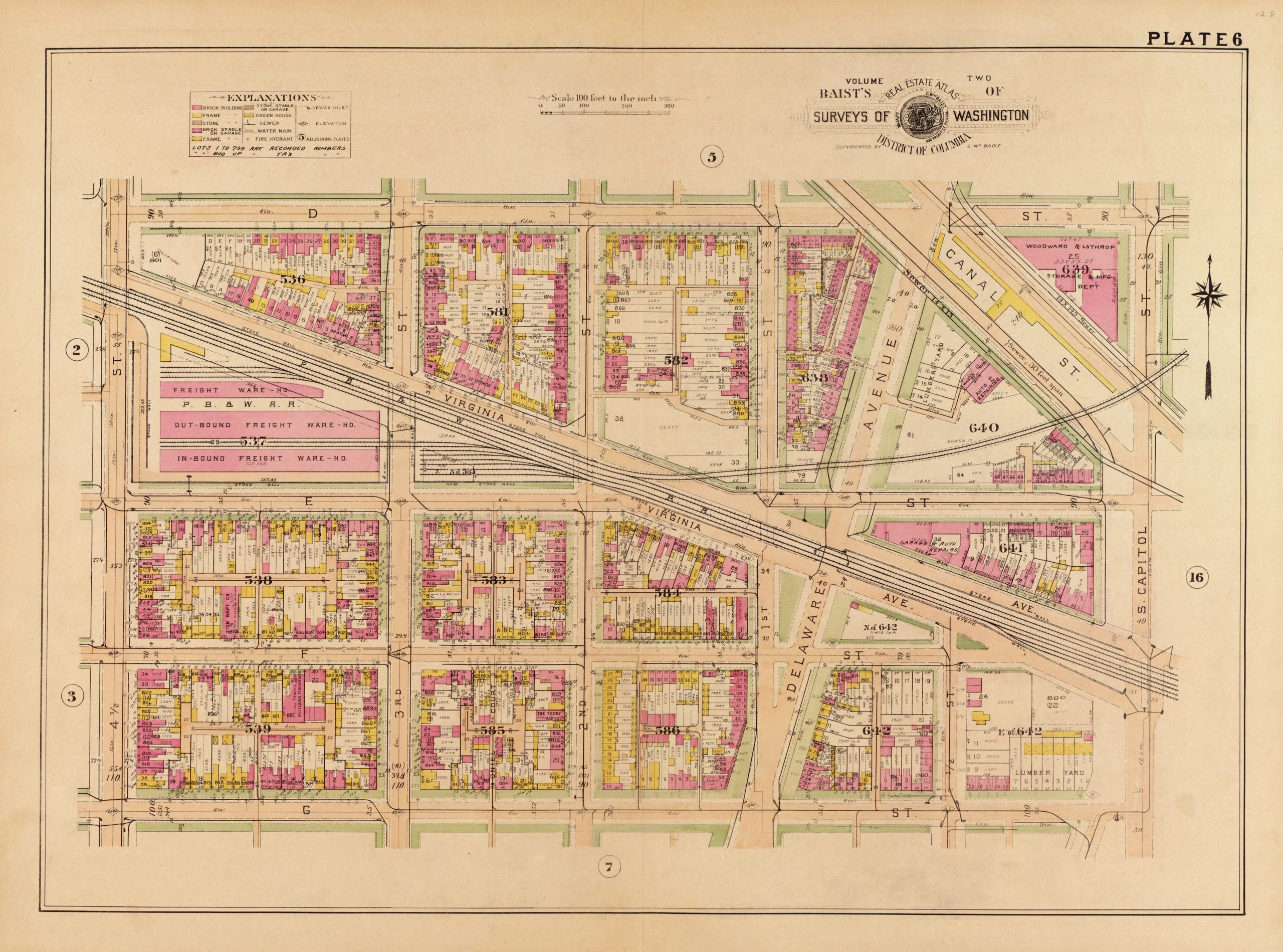 1927 Baist map of Southwest D.C.