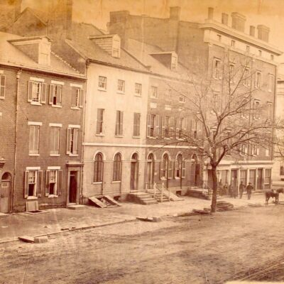 F St. in the 1860s