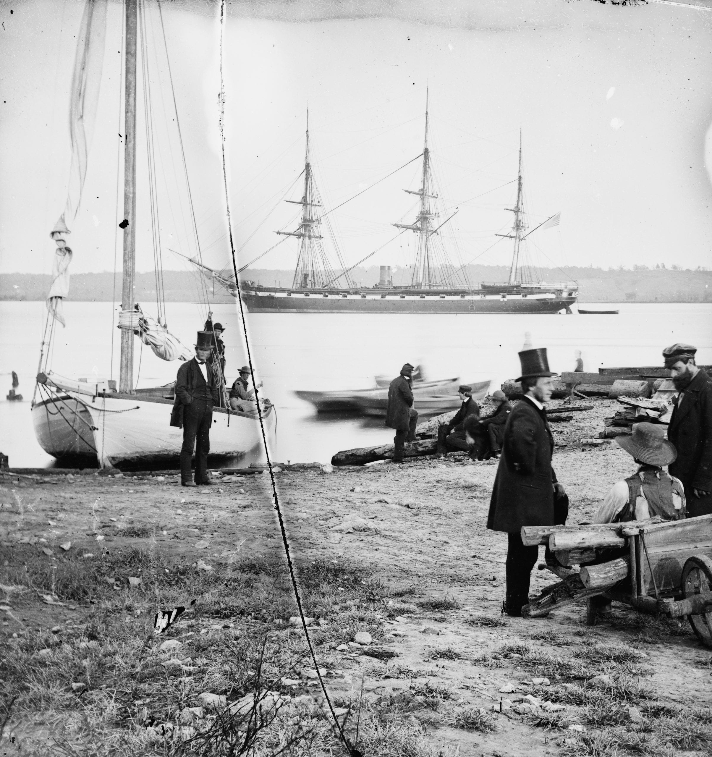 Alexandria, Va. Steam frigate Pensacola. Photographs of the Federal Navy, and seaborne expeditions against the Atlantic Coast of the Confederacy -- the Federal Navy, 1861-1865.