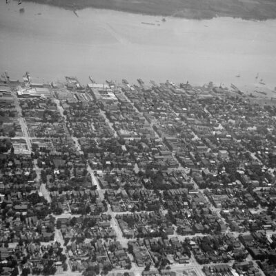 Alexandria, VA as seen from the air in 1919