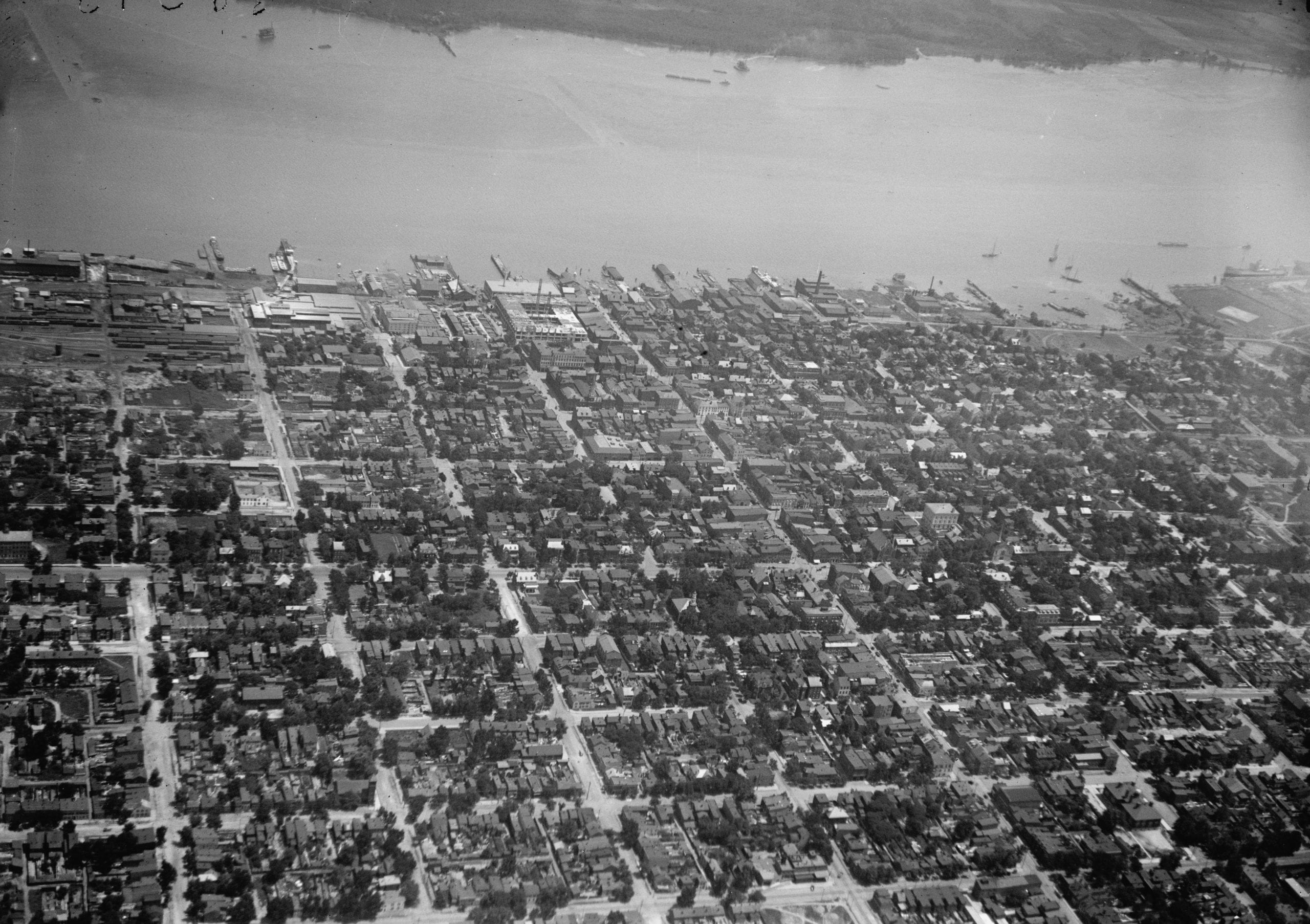 Alexandria Viewed From an Airplane in 1919